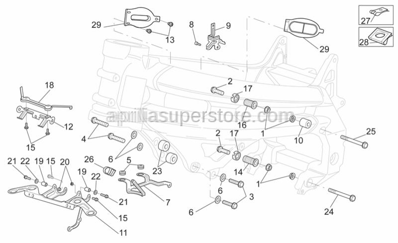 Aprilia - Screw w/ flange M10x110