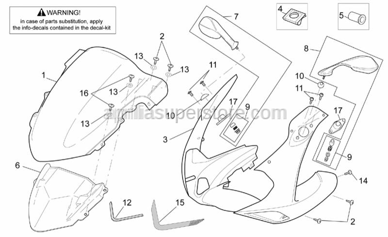 Aprilia - Mirror insertion kit