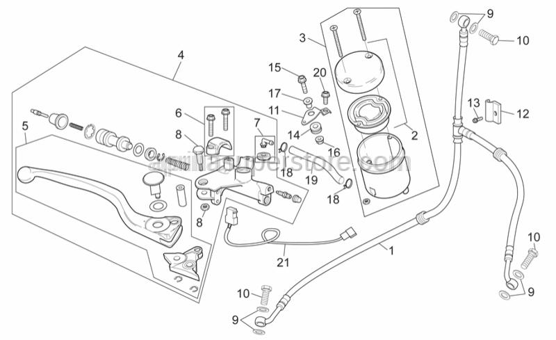 Aprilia - Rear brake pump union