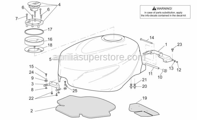 Aprilia - Fuel tank gasket