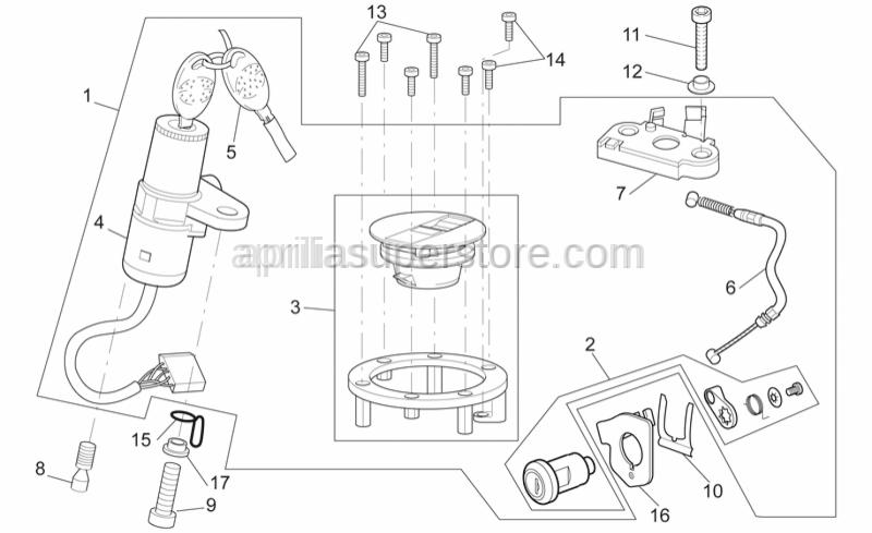 Aprilia - Special screw M8x15