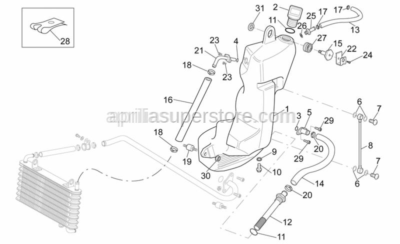 Aprilia - LH fairing fixing plate