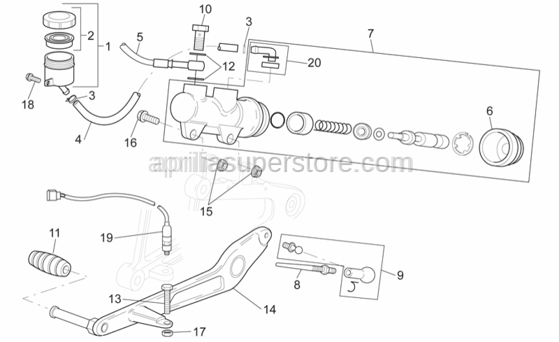 Aprilia - Brake pump rod