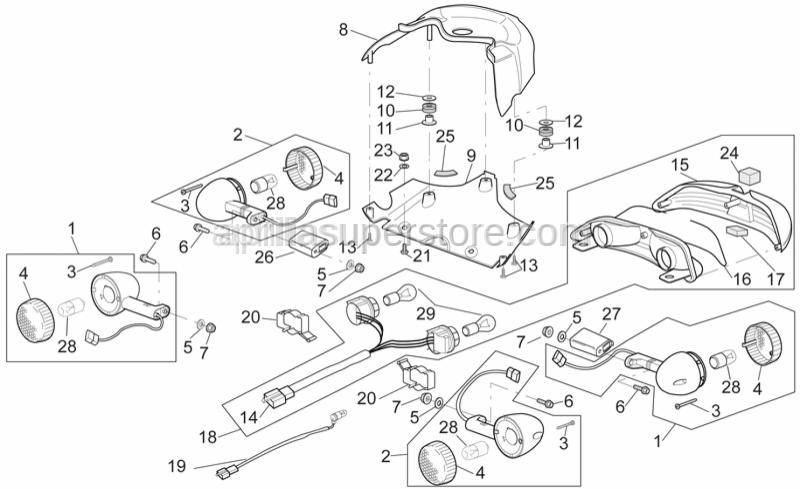 Aprilia - Self-tap screw 3,9x14