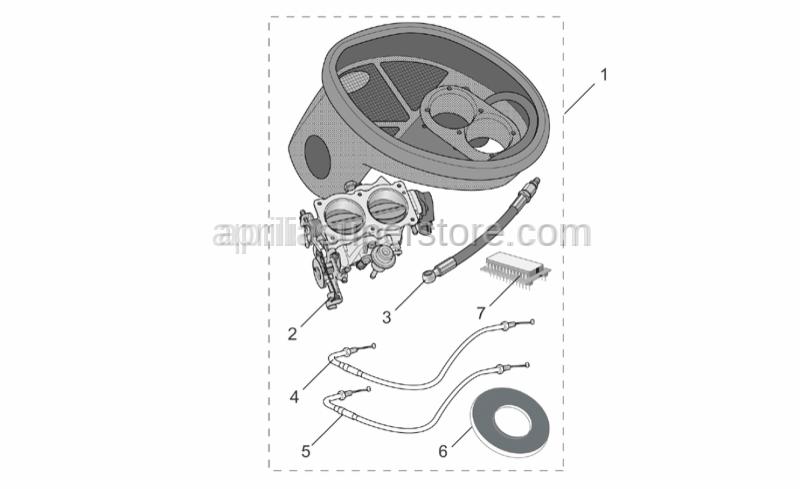 Aprilia - Gasket airbox