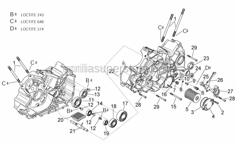Aprilia - Hex socket screw M6x80