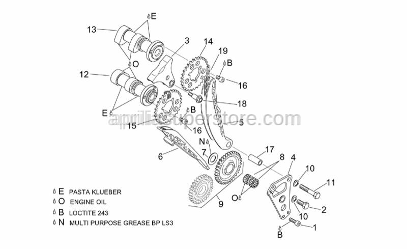 Aprilia - Timing system gear cpl.