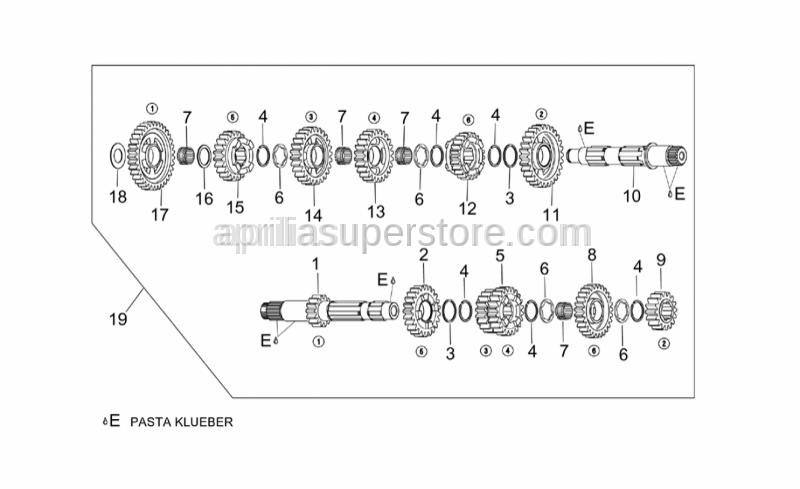 Aprilia - Gear box cpl.6 speed