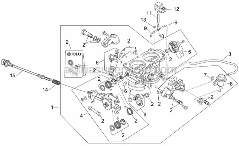Aprilia - Sensor pipe 110mm