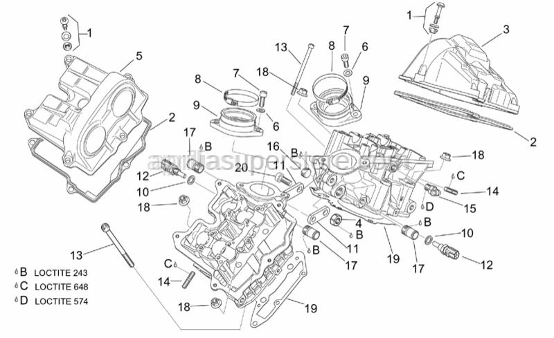 Aprilia - Spacer screw cpl.