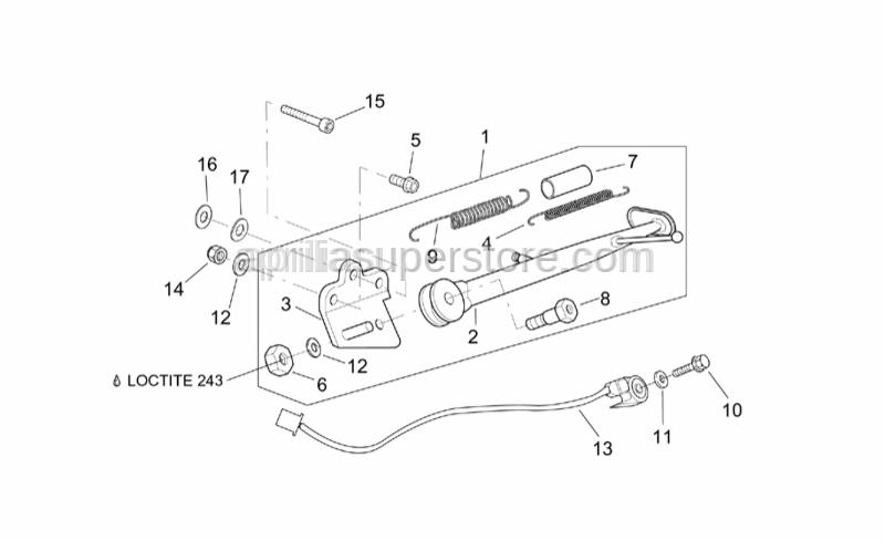 Aprilia - Hex socket screw M10x90