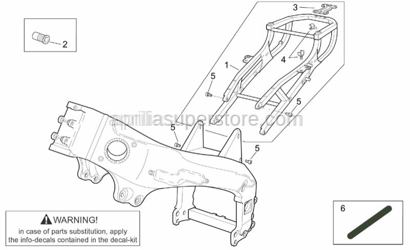 Aprilia - Threaded rivet M6