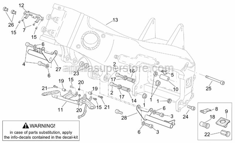 Aprilia - LH front engine spacer