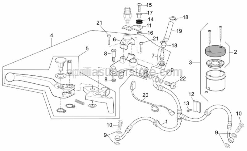 Aprilia - Front brake pump