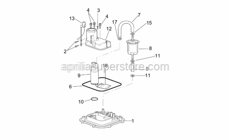 Aprilia - Fuel pump flange