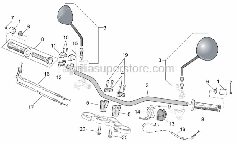 Aprilia - Choke cable