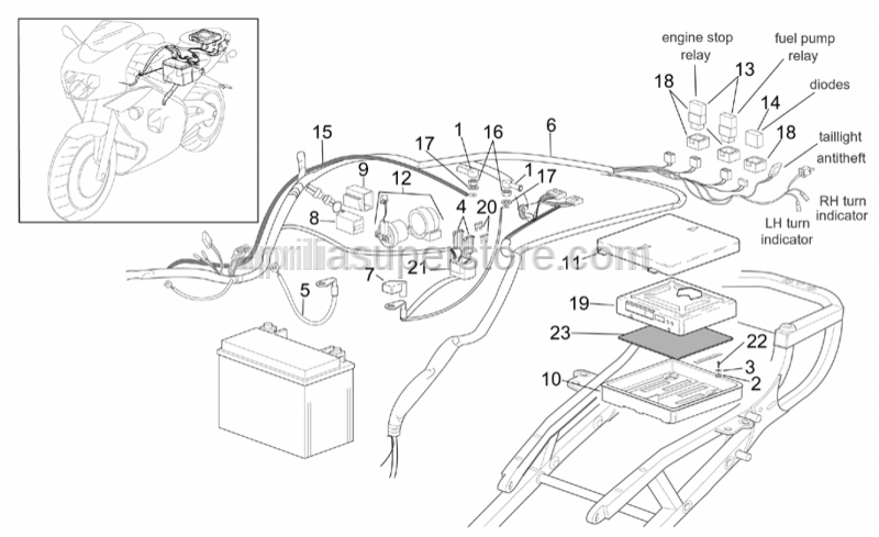 Aprilia - Rubber sensor support