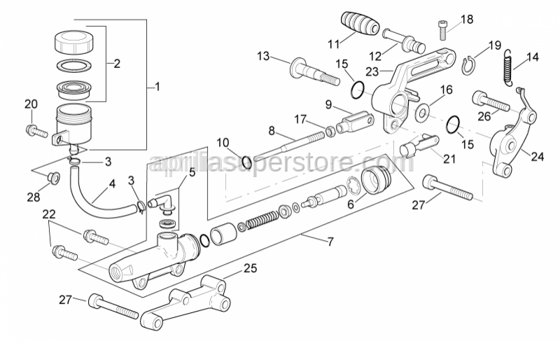 Aprilia - Brake lever support
