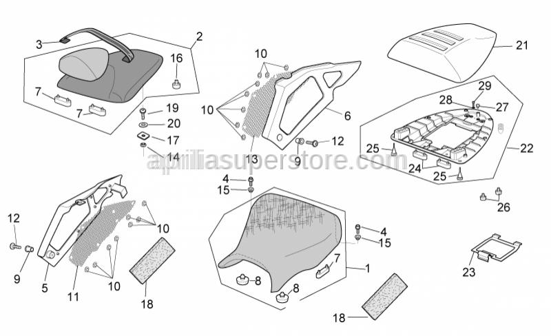 Aprilia - Pillion seat strap, bl.kevlar
