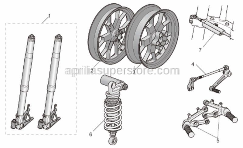 Aprilia - Adj.Steering shock abs. Ohlins