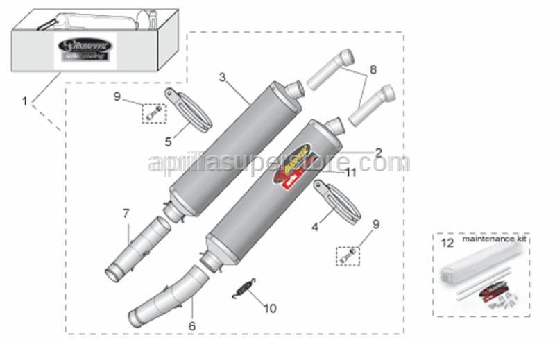 Aprilia - LH silencer support clamp