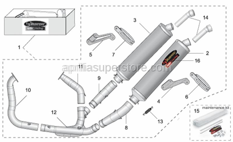 Aprilia - LH clamp Carb.