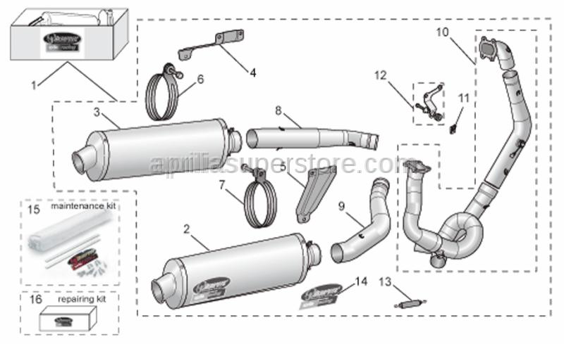 Aprilia - RH manifold pipe Titan