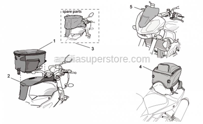 Aprilia - Tank bag rain hood