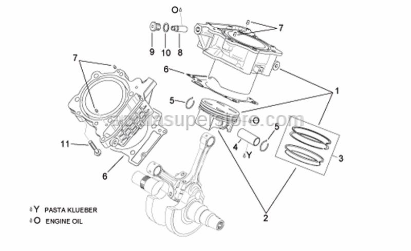Aprilia - Cylinder base gasket