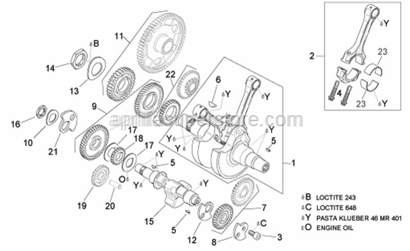 Aprilia - Int.wheel side counterweight