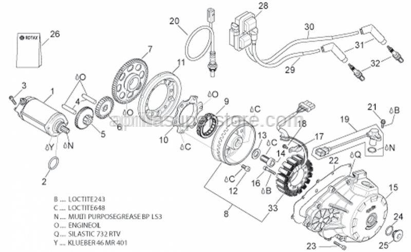Aprilia - Starter motor revision kit