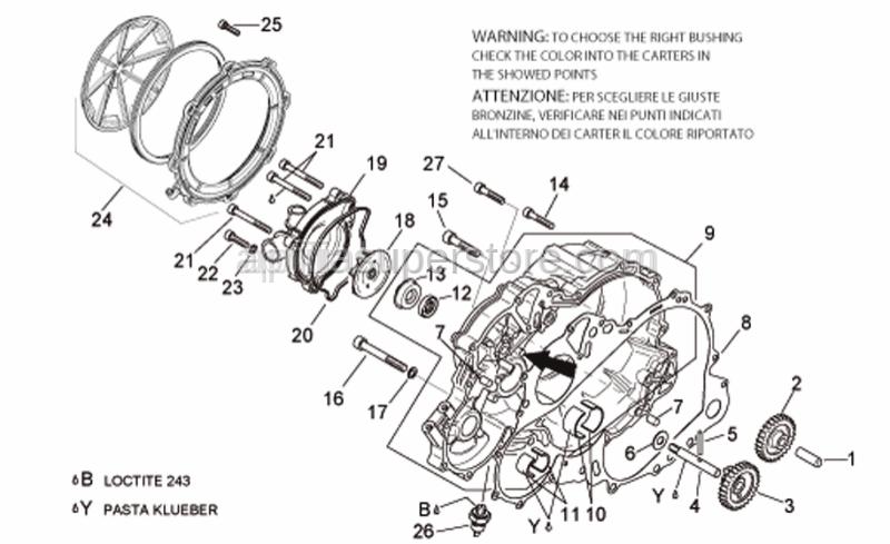 Aprilia - Pump mechanical seal
