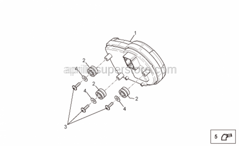 Aprilia - Insulating cap