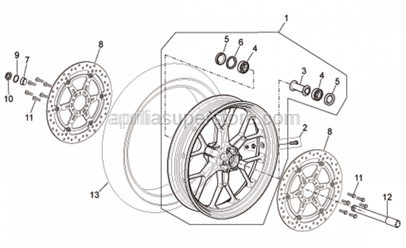 Aprilia - Front wheel spindle