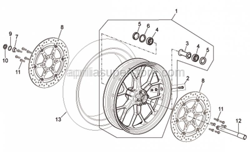 Aprilia - Front/rear tyre 120/70 ZR 17 Pirelli