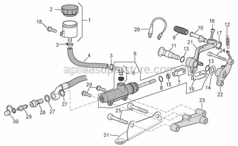 Aprilia - Rear brake lever spring