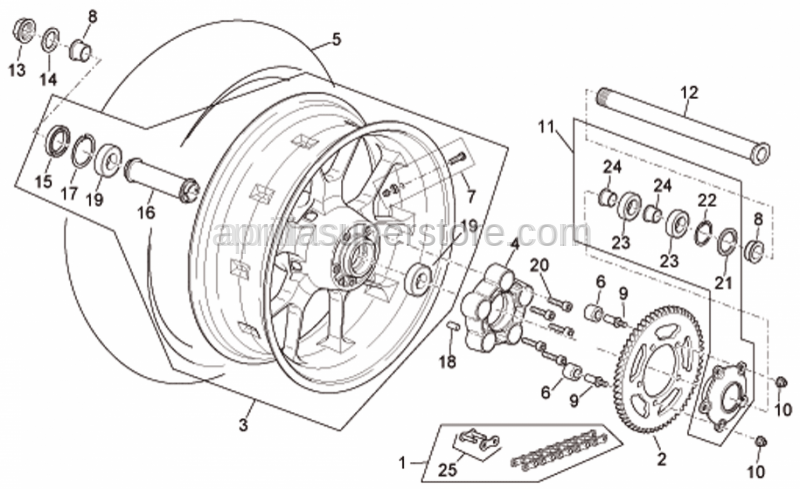 Aprilia - Rear tyre 190/50 ZR 17