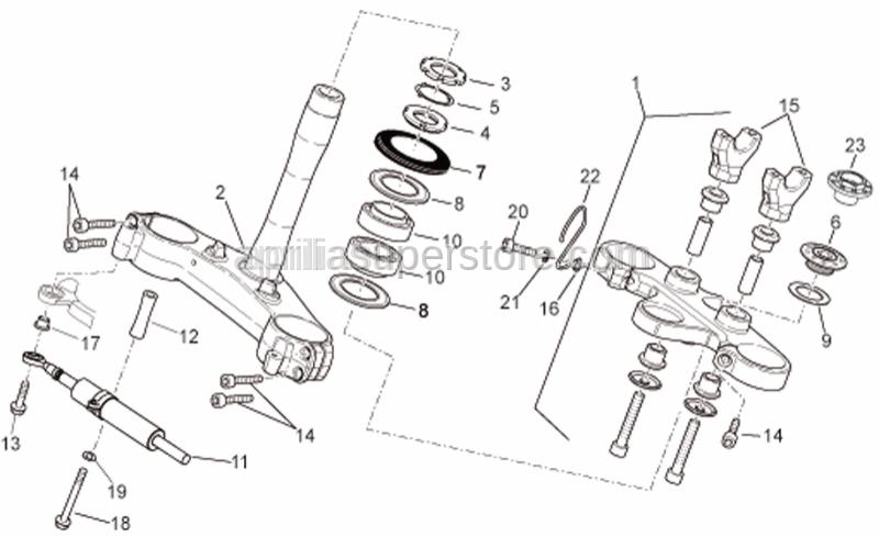 Aprilia - Brake tube cable guide