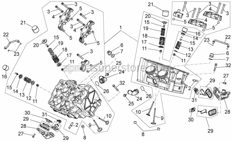 Aprilia - Exhaust valve 26mm