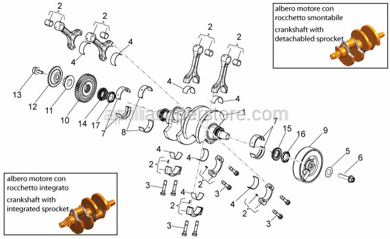 Aprilia - Screw w/ flange M12X1,25X50