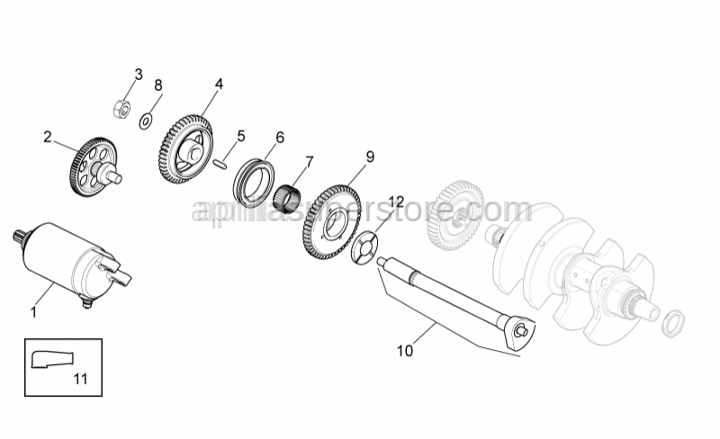 Aprilia - Balance shaft Gear Z=44