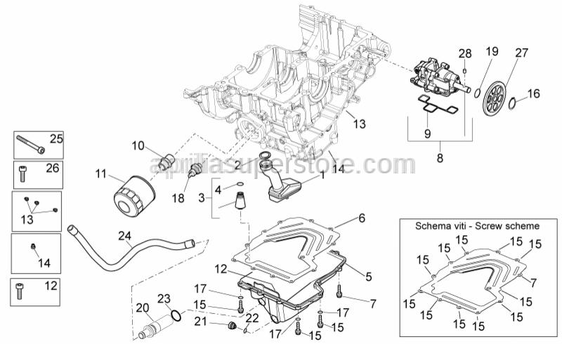 Aprilia - Oil pump gear Z=36