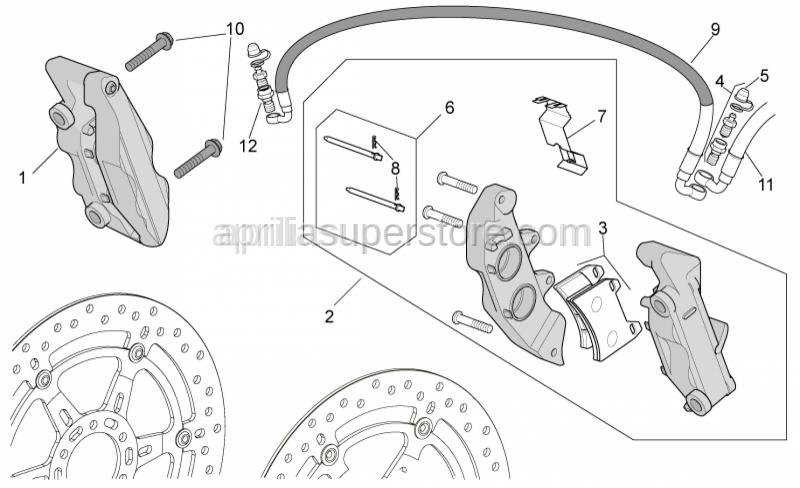 Aprilia - RH Front brake caliper, gold P432