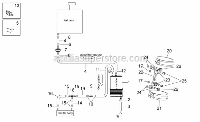 Aprilia - Fuel pipe 8x13