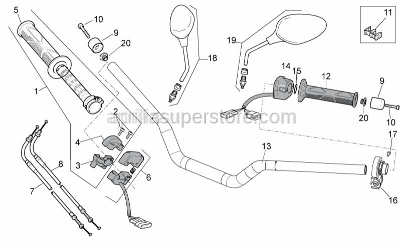 Aprilia - Complete Throttle Grip