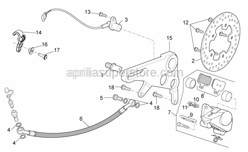 Aprilia - Rear brake hose