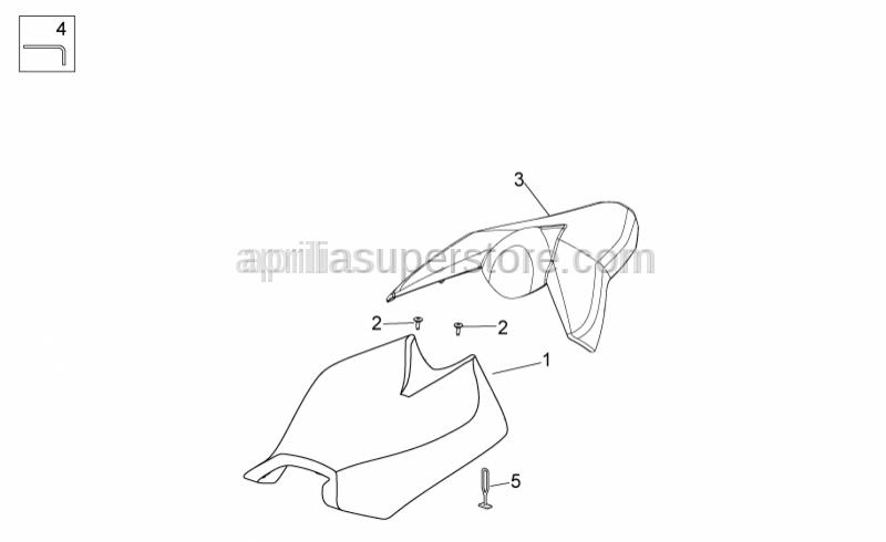 Aprilia - Rear saddle