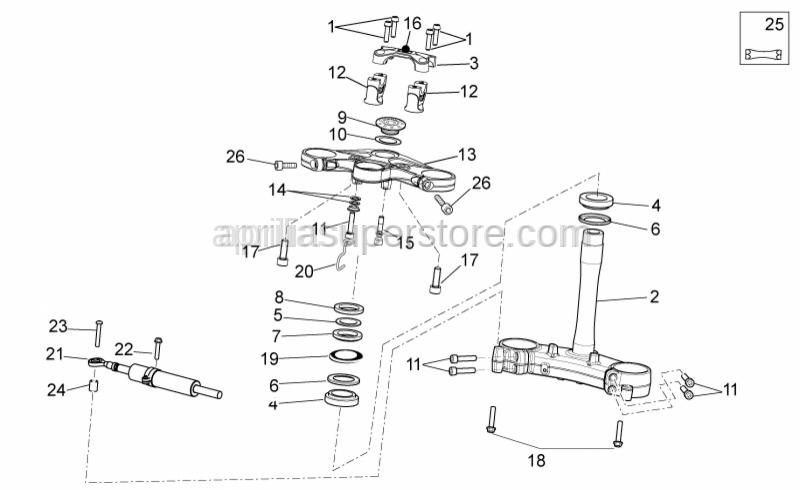 Aprilia - Steering security plate
