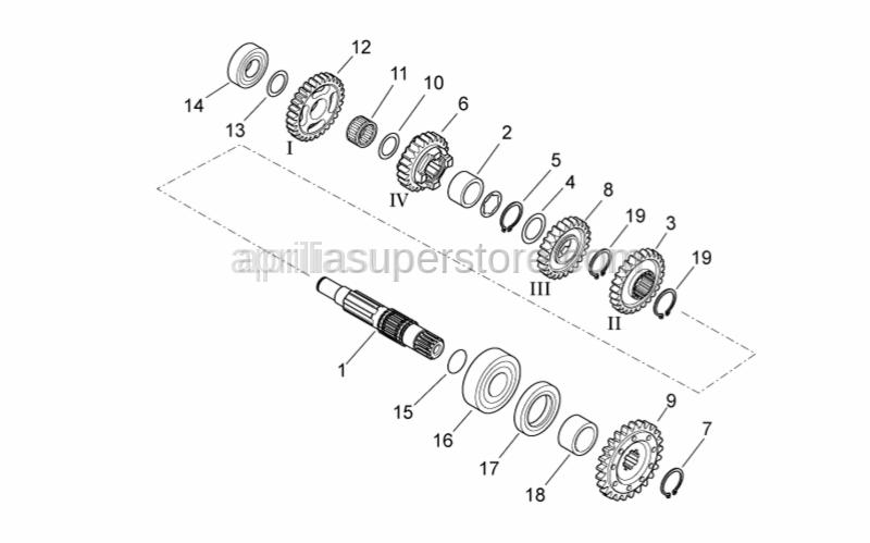 Aprilia - Roller bearing D25-D52-SP1