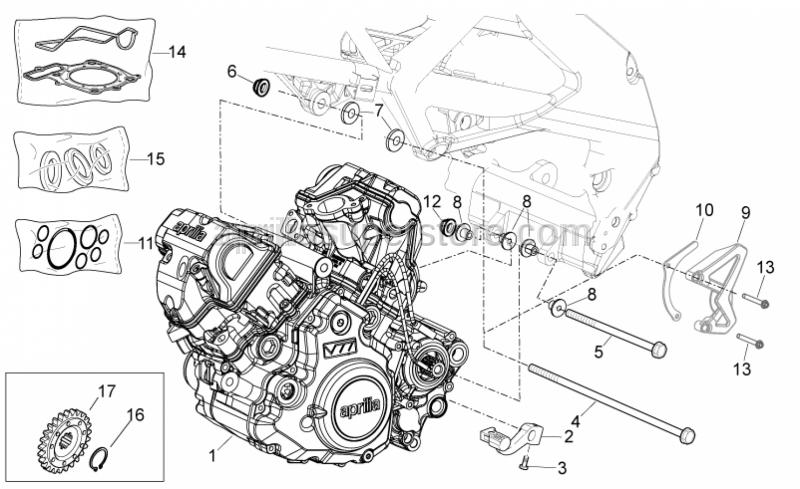 Aprilia - Engine oil seal kit